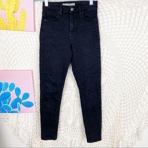 Topshop Jamie black high rise skinny jeans 25